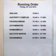 running-order