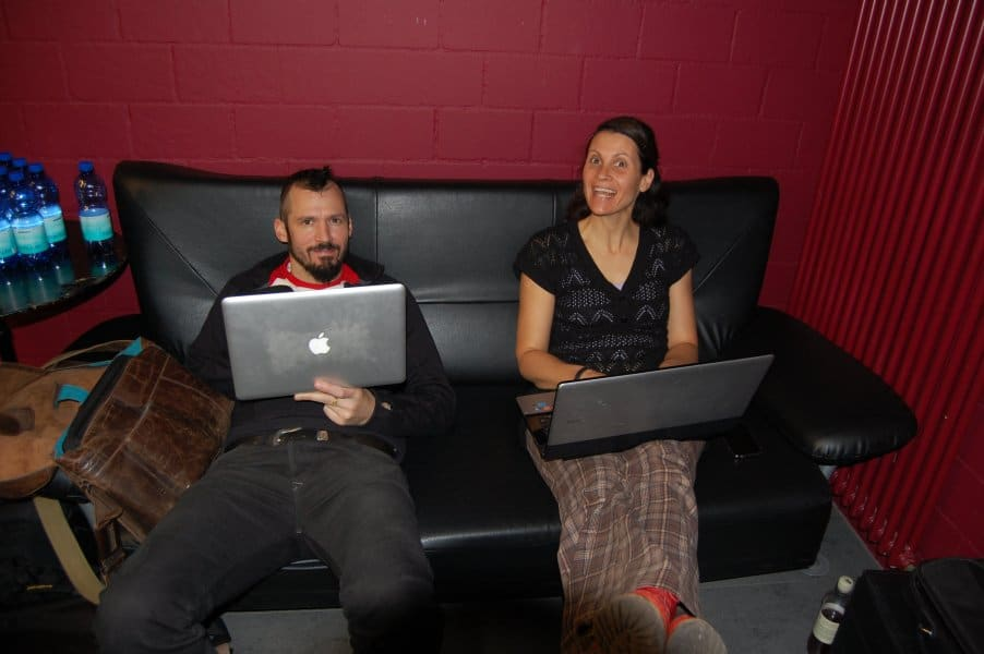 Bifi und Hiasl im Büro