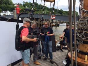 Videodreh im Museumshafen Hamburg
